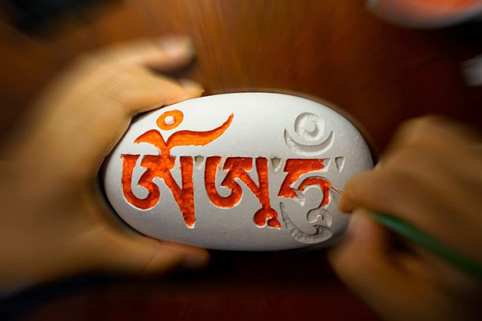 摩尼石刻有六字大明咒,它是觀音菩薩的咒語,蘊藏諸佛菩薩的慈悲